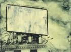 Petra Polli<br><p class='title'>Power Word 3</p>, 2015<br>Siebdruck und Acryl auf Leinwand<br> 30 x 40  cm