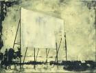 Petra Polli<br><p class='title'>Power Word 4</p>, 2015<br>Siebdruck und Acryl auf Leinwand<br> 30 x 40  cm