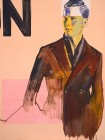 Agnes Lörincz<br><p class='title'>Das große N</p>, 2014<br>Acryl, Stoff auf Leinwand<br> 120 x 90  cm