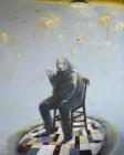 Benedikt Richert<br><p class='title'>Figur II</p>, 2014<br>Öl auf Nessel<br> 200 x 160  cm<br> verkauft