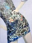Agnes Lörincz<br><p class='title'>Geblümtes Kleid</p>, 2014<br>Öl, Acryl auf Leinwand<br> 120 x 90  cm