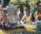 Mirta Domacinovic<br><p class='title'>Im Park</p>, 2014/15/16<br>Öl auf Nessel<br> 100 x 120  cm
