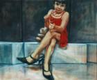 Mirta Domacinovic<br><p class='title'>Mila</p>, 2016<br>Öl auf Nessel<br> 120 x 100  cm