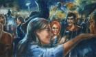 Mirta Domacinovic<br><p class='title'>Musikfestival</p>, 2016<br>Öl auf Nessel<br> 90 x 150  cm