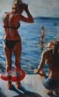 Mirta Domacinovic<br><p class='title'>Roter Luftballon</p>, 2016<br>Öl auf Nessel<br> 90 x 150  cm