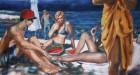 Mirta Domacinovic<br><p class='title'>Trogir</p>, 2016<br>Öl auf Nessel<br> 80 x 150  cm
