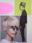 Agnes Lörincz<br><p class='title'>Warten</p>, 2014<br>Öl, Acryl, Fotoprint auf Leinwand<br> 120 x 90  cm